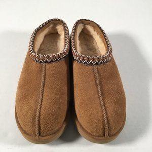 Ugg Tasman Braid Accent Suede Slippers, Mens 9M